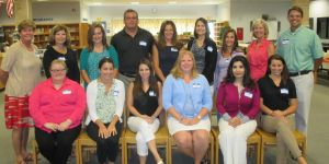 <p>Angelo L. Tomaso School Principal Kathy Bond, second row, far left, welcomes new teachers into the K-8 Warren School district during the week of Aug. 17, along with Superintendent Tami Crader and Mt. Horeb School Principal Scott Cook, both second row, far right. The new teachers are: Back row, from left: Lucia Raphael, Kaitlyn Brown, Jim Zilinski, Christine Barbera, Kate Zaleski, Lori Vigliotti and, front row, from left: Chelsea Hill, Josephine Maccagnan, Deanna Roberman, Karen Schlosser, Henna Jaffry, and Suzanne Aldrich.</p>