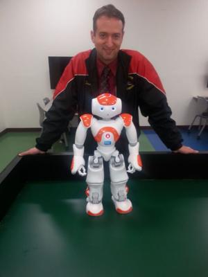 A friendly humanoid helps Mount Olive kids learn valuable lessons