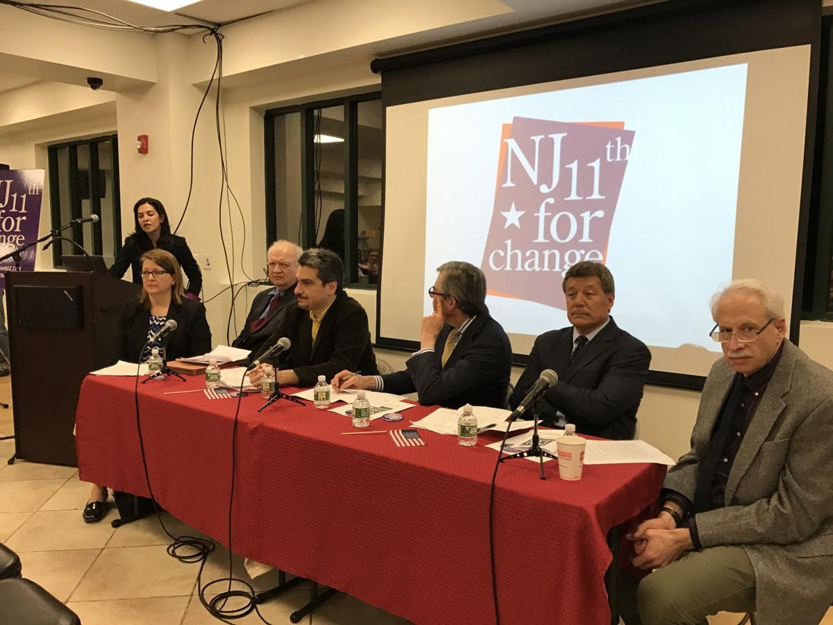 Panel of experts at the Boonton town hall meeting