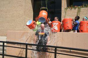 North, Voorhees principals take the ALS Ice Bucket Challenge
