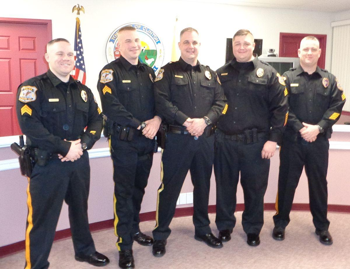 Clinton Township promotes five police officers, honors EMS chief