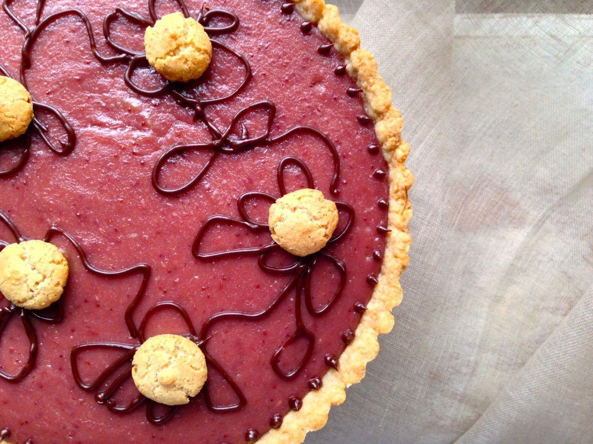 FRESH OFF THE FARM: Strawberry Curd Tart by Claire Nines