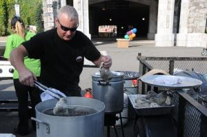 "<p>   Steamers were the order of the day as crowds turned out Saturday, Aug. 16, for the ""Madison Summer Clam Bake,"" a celebration of Madison's 125th anniversary as an incorporated borough, organized by the Madison Downtown Development Commission with music, games, amusements and lots of food in the crescent parking lot at the Madison Train Station on Kings Road.</p>"