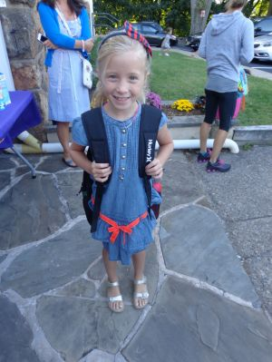A big first day for Califon students