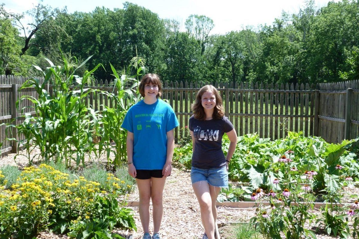 Create Kitchen Garden Cadette Girl Scouts Create Kitchen Garden At Bouman Stickney