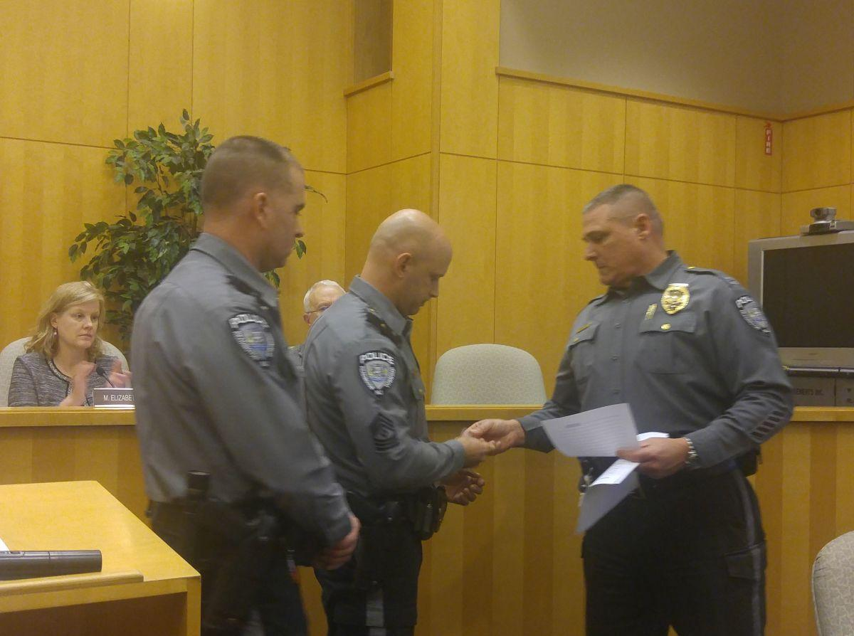 Readington honors police officers for valor, achievement