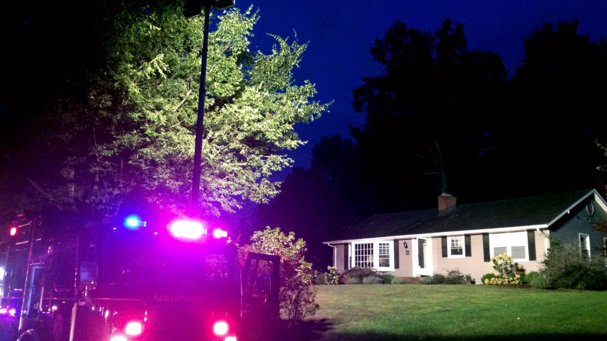 Microwave bursts into flames in Madison