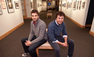 "<p>Former Florham Park resident Michael Bender, left, and his buddy, former Bernardsville resident Doug Chernack, are the brains behind the popular ""Awkward Family Photo"" franchise.</p>"