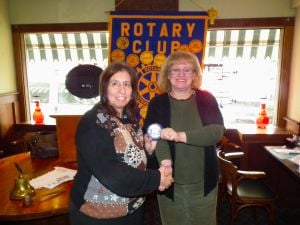 Janet Markman installed as honorary Rotary member