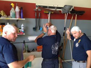 Firefighters shave it all off