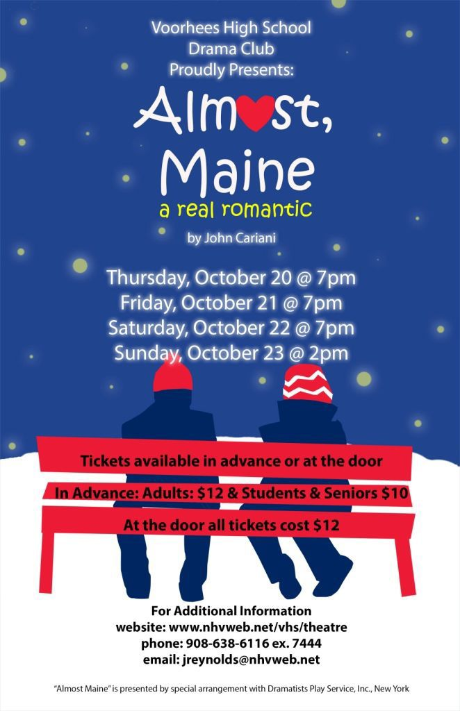 Voorhees High to present quirky romantic comedy 'Almost, Maine'