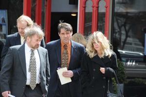 Lennon Baldwin's parents leave funeral