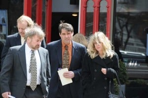 Lennon Baldwin's parents leave funeral