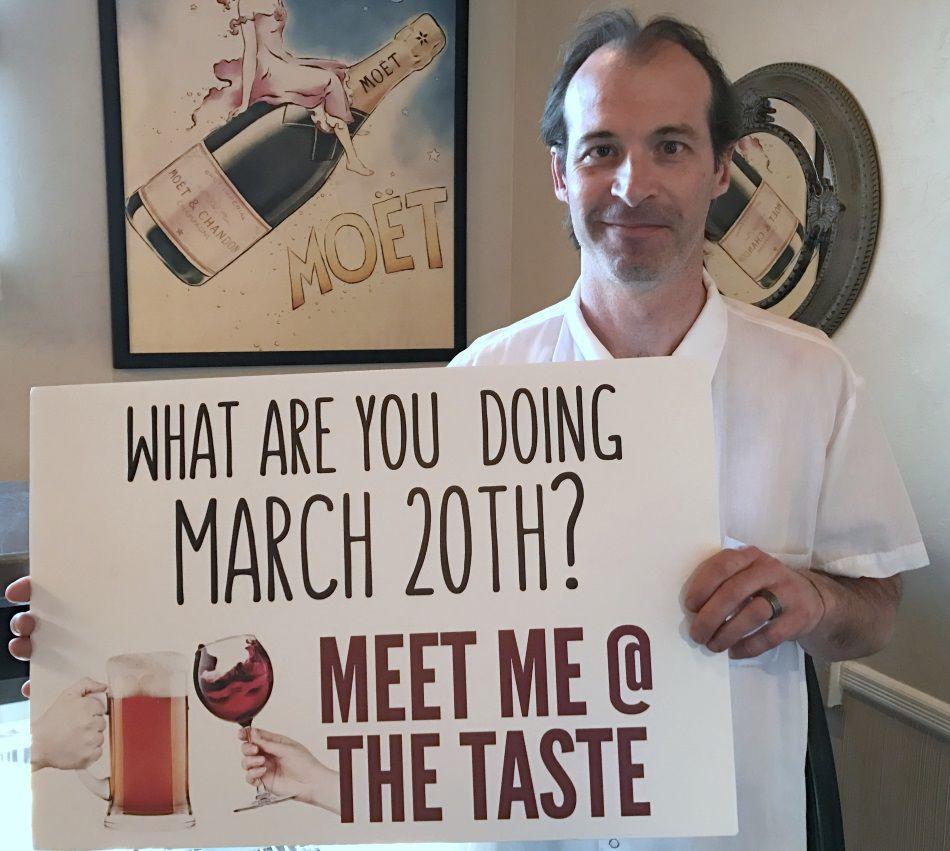MEET ME AT 'THE TASTE'