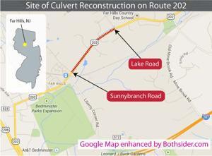 Culvert on Route 202 in Far Hills