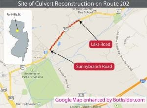 Summer project will close Route 202 in Far Hills