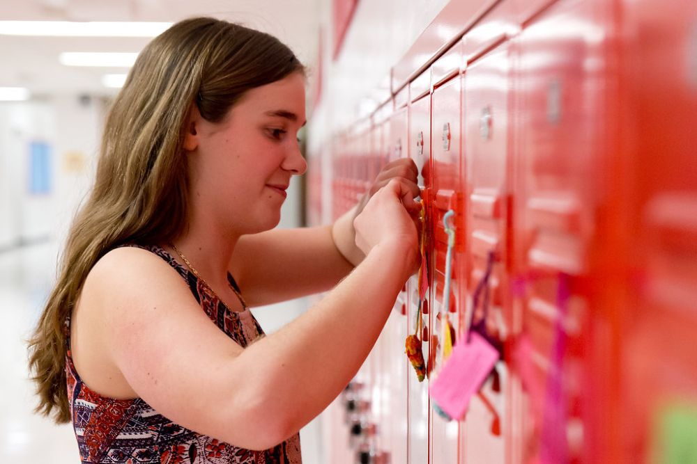 Voorhees students wear Valentine hearts for good cause
