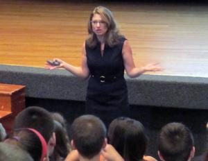 <p>Robyn Silverman addressed the West Essex Regional School District in a series of assemblies on Tuesday, Sept. 30.</p><p>Robyn Silverman addressed the West Essex Regional School District in a series of assemblies on Tuesday, Sept. 30.</p>