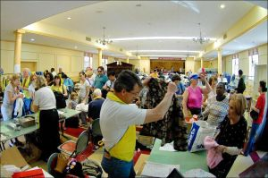 Community Church's Charity Rummage Sale shopper receives assistance