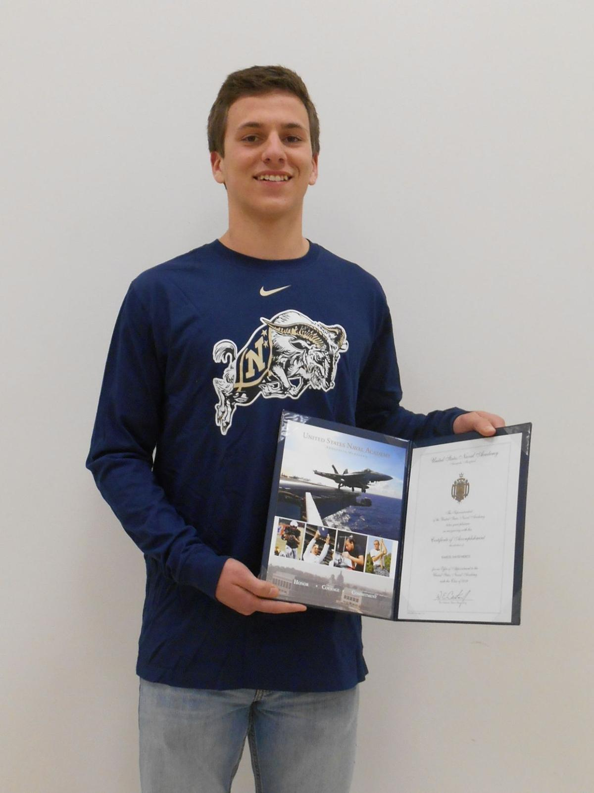 mertz receives u s naval academy appointment news appointment to the us naval academy