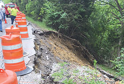 Hinton Road undergoing emergency repair after collapse