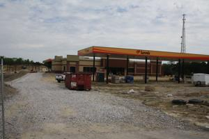 <p>The under-construction Love's truck stop in July.</p>