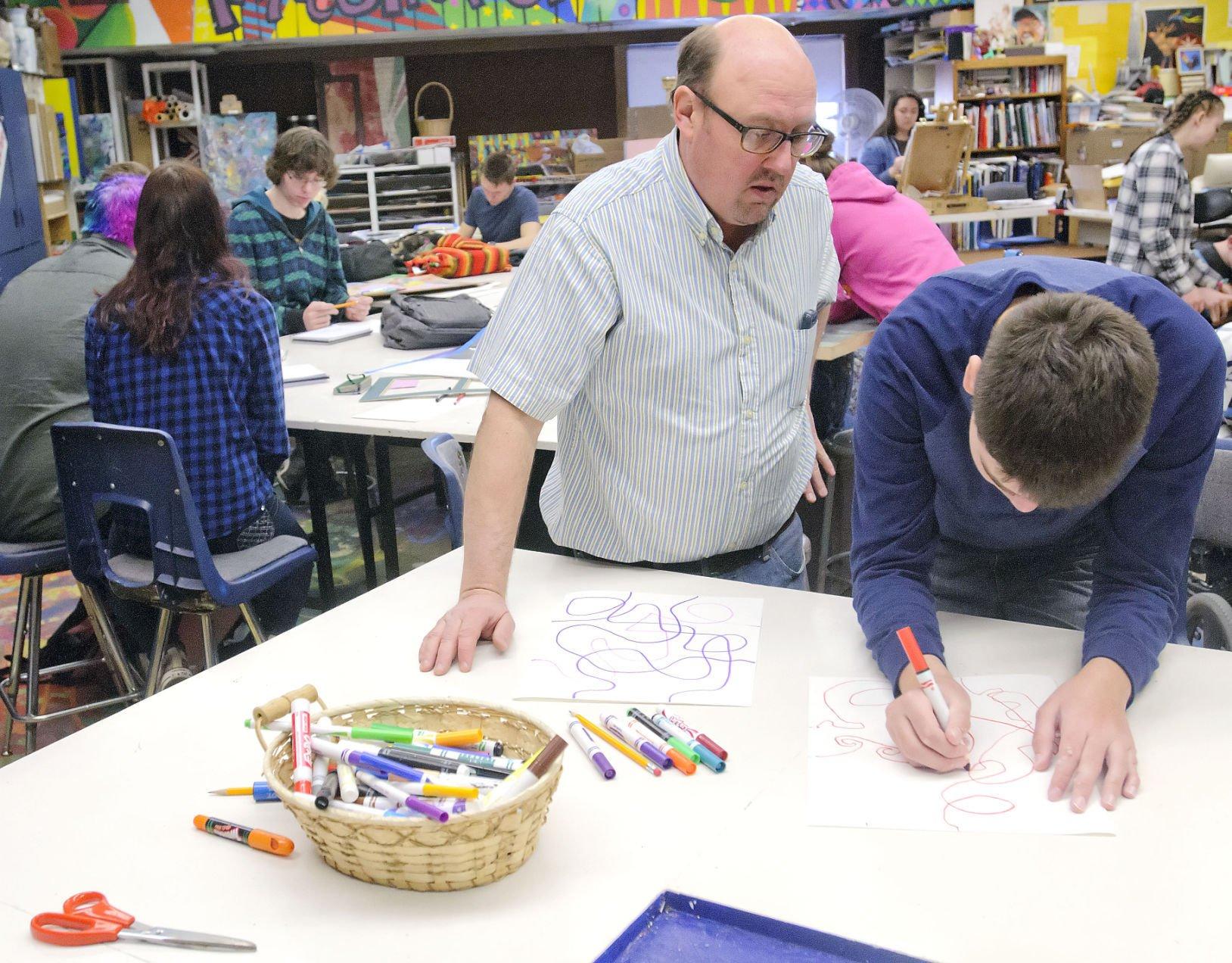 Chaos and creativity: Local high school art teacher named ...
