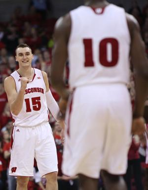 Photos: Wisconsin rolls over Penn State in men's basketball