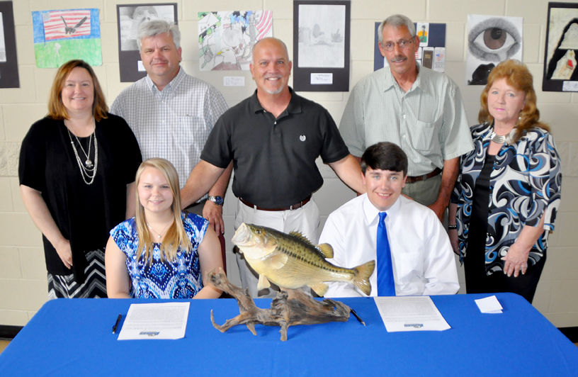 Pchs celebrates school 39 s first fishing scholarships for College fishing scholarships