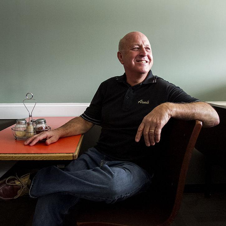 A BIG PIZZA PIE AMORE: Arni's manager Bob Allen retires from unlikely passion