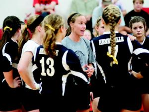 Henryville volleyball coach Shallon Hill