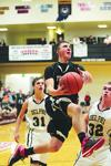Frontier's basketball team lost 61-33 Tuesday night at the Indiana Kitchen Classic to host Delphi.  Junior Zach Loy led the Falcons with 15 points and six rebounds.