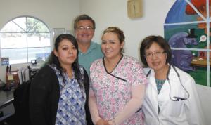 <p>Maria, Ernest, Michelle and Dr. Nizar</p>