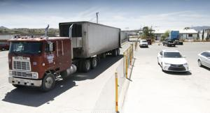 "<p class=""p1"">Each day, about 500 tractor-trailers pass through the Confederation of Agricultural Associations of Sinaloa station in Nogales, Sonora, which handled 1.62 billion pounds of Mexican produce last season. </p>"