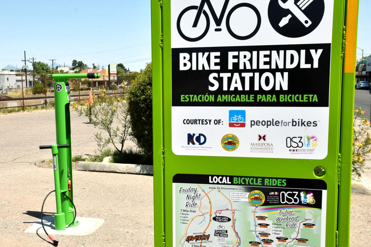 new bike repair station installed in downtown nogales. Black Bedroom Furniture Sets. Home Design Ideas