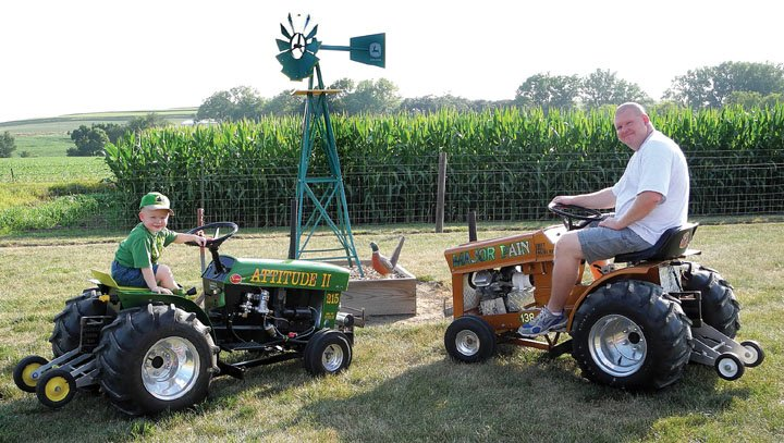 Garden Tractor Pullers : Getting ready for the garden tractor pull home daily