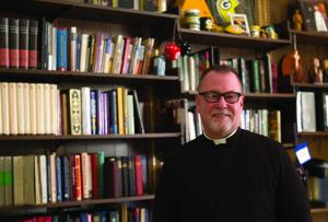<p>The Rev. Dr. Jeffrey Nelson stands inside his office at North Platte's Episcopal Church of Our Savior. Nelson said the Episcopal Church nationally has approved blessing same-sex unions, but marriage is still recognized as between a man and woman.</p>