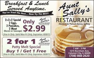 AUNT SALLY'S RESTAURANT