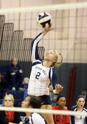 Bishop Noll's senior setter Emily Johnson won't let illness keep her away