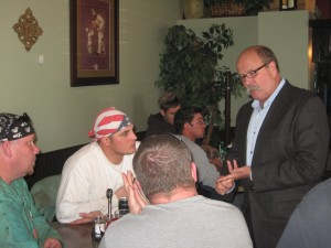 Gubernatorial candidate makes stop at Portage's Cappo's