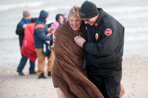 Polar bears take a swim for cancer support