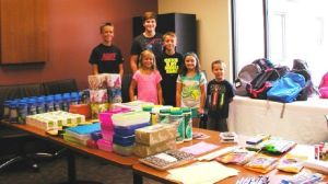 School supplies packed for clinic families