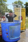 Ex-offenders testify to merits of Positive Impact group at dunk-tank event