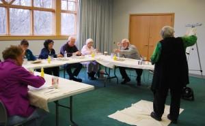Crete library patrons enjoy acrylic painting class