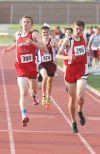 Crown Point's Tyler Gray, right, edges teammate Ryan Kepshire
