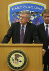 Feds announce indictments gang racketeering