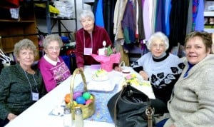 Volunteer celebrates her birthday with Bakery House residents