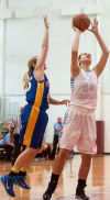 Hanover Central's Lisa Gac shoots in the paint