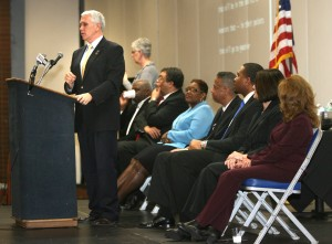 Pence talks education, jobs during Gary visit