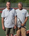 Wheeler assistant tennis coaches Bob Barthold and Gary Dixon